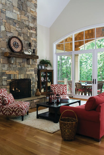 The Genova Plan #1191-D: Great Room - Traditional - Living Room - charlotte - by Donald A ...