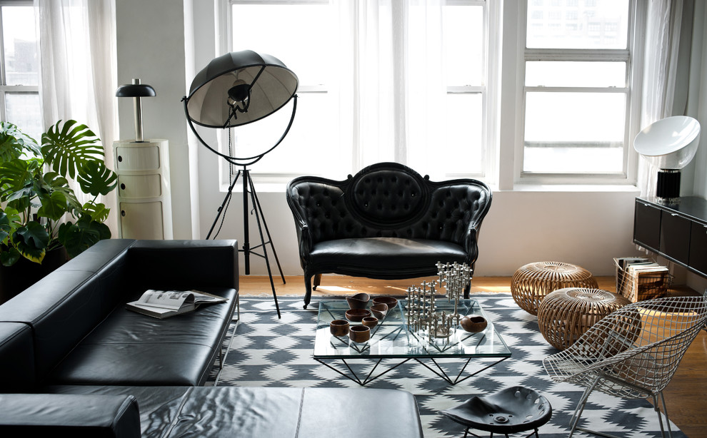 Urban living room photo in New York
