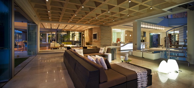 Example Of A Trendy Living Room Design
