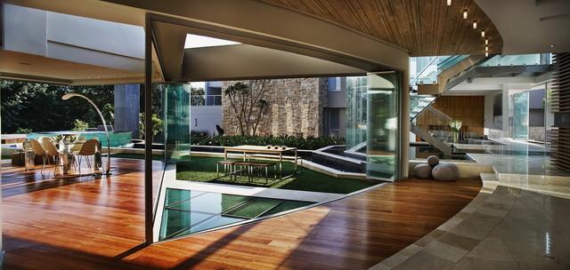 The Glass House contemporary-living-room