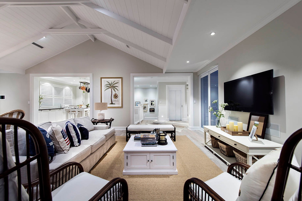 Inspiration for a beach style living room remodel in Perth