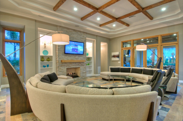 The Lake Club contemporary-living-room