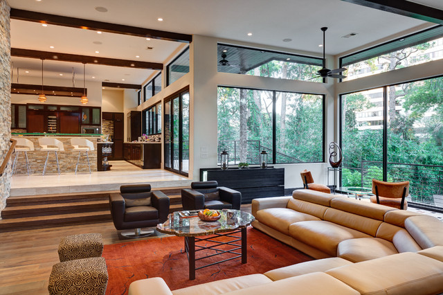 modern living room by Charles Todd Helton, Architect