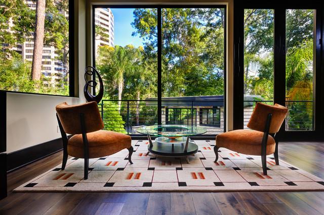 The Leblanc Cox Residence Contemporary Living Room