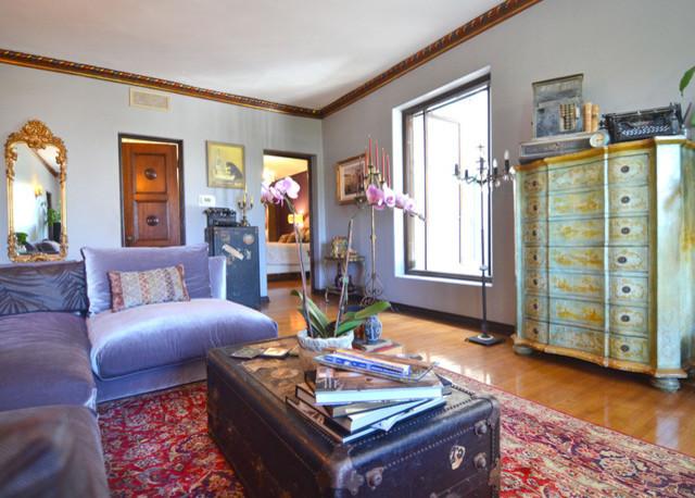 The Los Altos {AFTER} (historic landmark building in Hancock Park) eclectic-living-room
