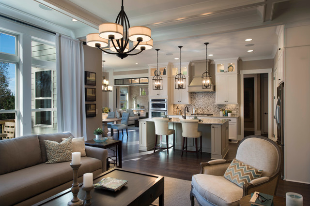 The Madison Great Room Woodmont Golf And Country Club Transitional Living