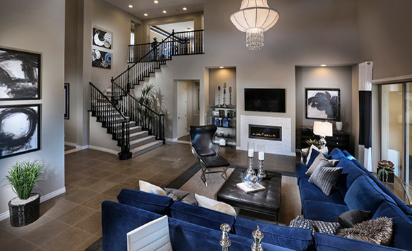 The Masters Plan 4615 Las Vegas Contemporary Living Room