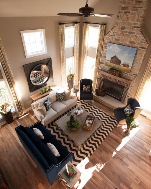Houzz Farmhouse Living Room: The Mill House