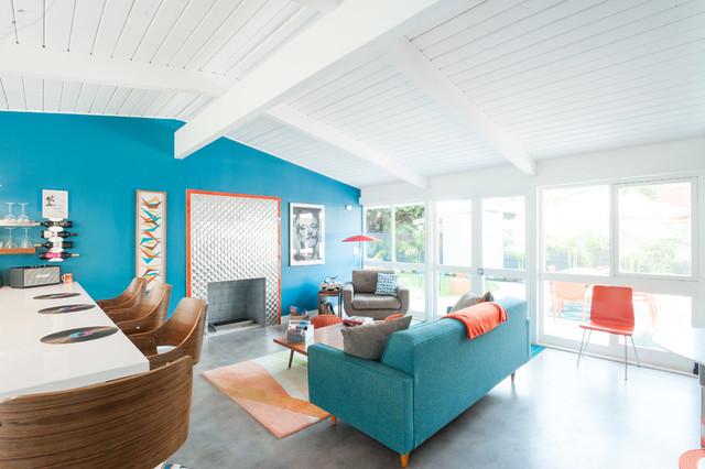The Mod Couple Midcentury Living Room Los Angeles By Joybird