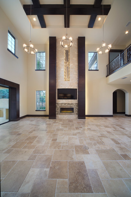 The modern mediterranean home contemporary living room for Questions to ask a custom home builder