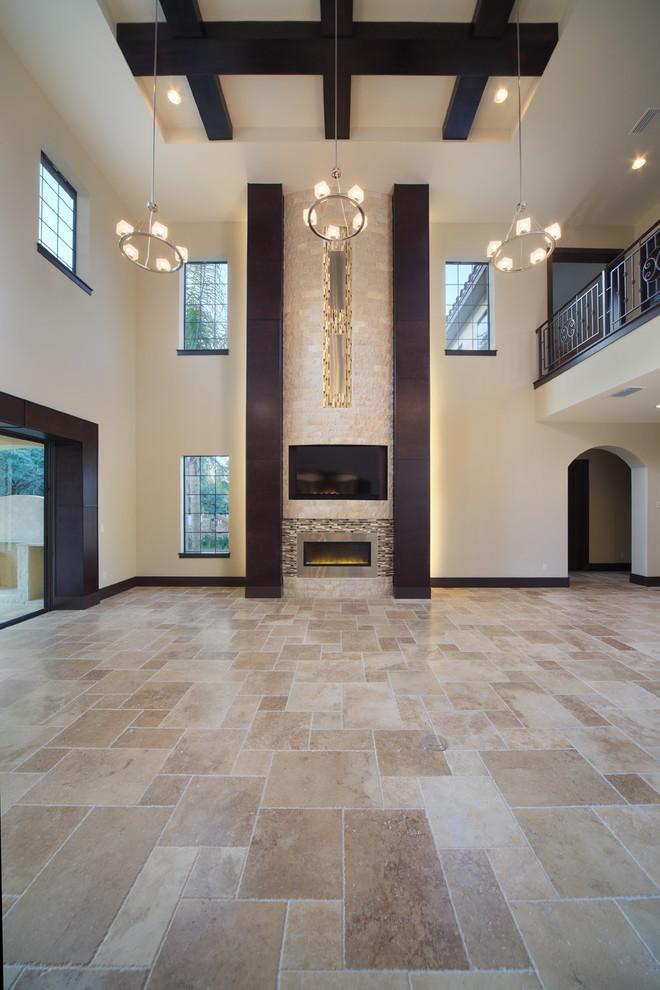 Trendy living room photo in Orlando