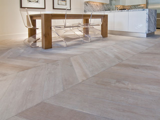 The New Classics Collection in Chevron Parquet by DuChateau Floors - Contemporary - Living Room ...