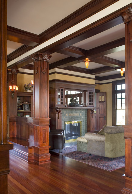The Parnell Craftsman Living Room Portland By Alan Mascord Design Associates Inc