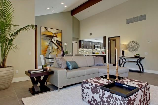 The pointe Escoba condominium renovation/update contemporary-living-room