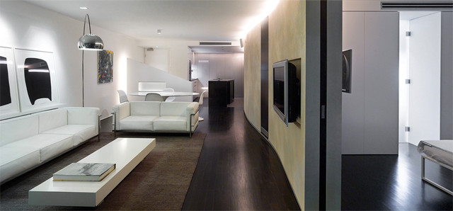 """""""The Republic"""" Interior Colours & Finishes contemporary-living-room"""