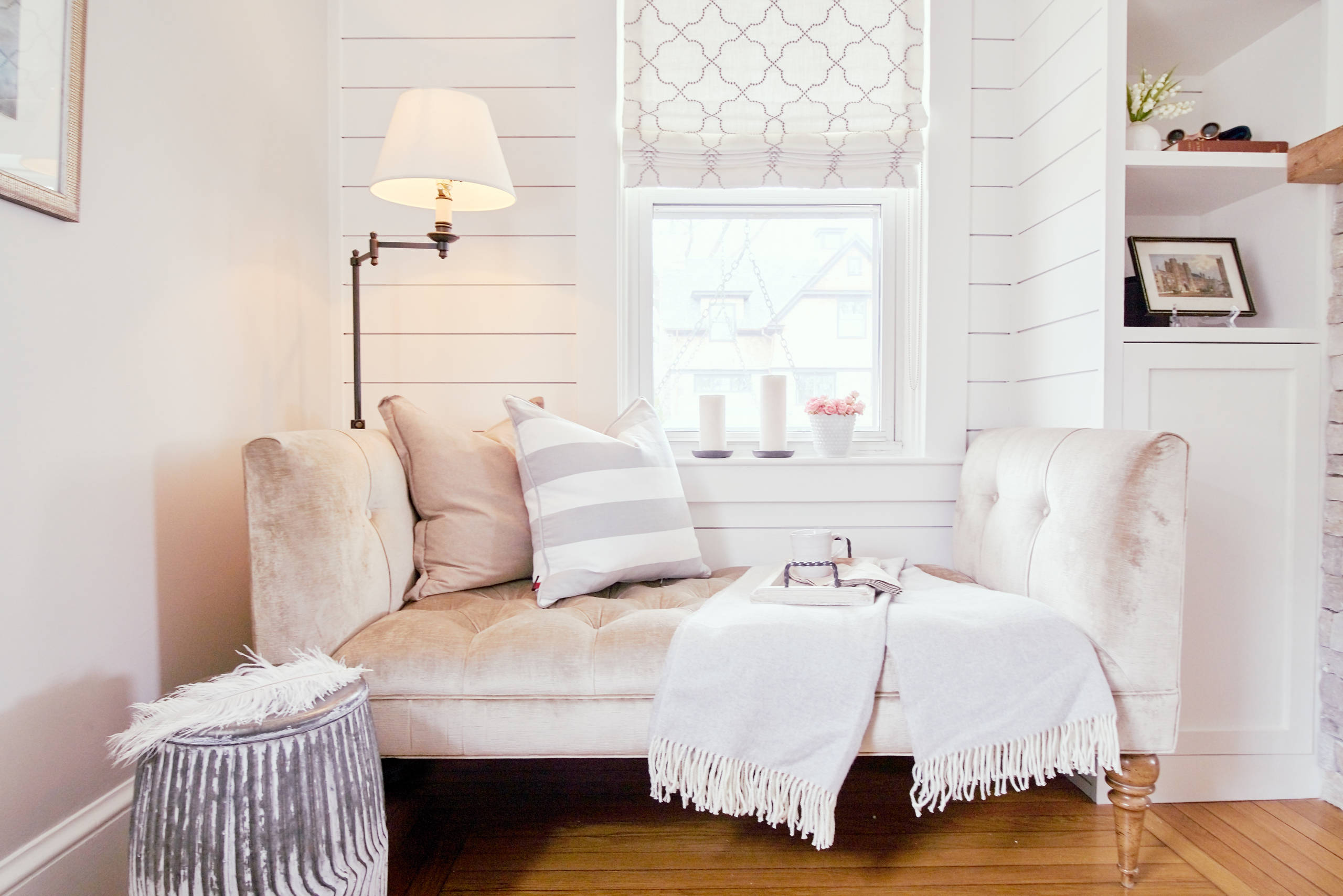 Pareti A Righe Shabby Chic 75 beautiful shabby-chic style living space with a media