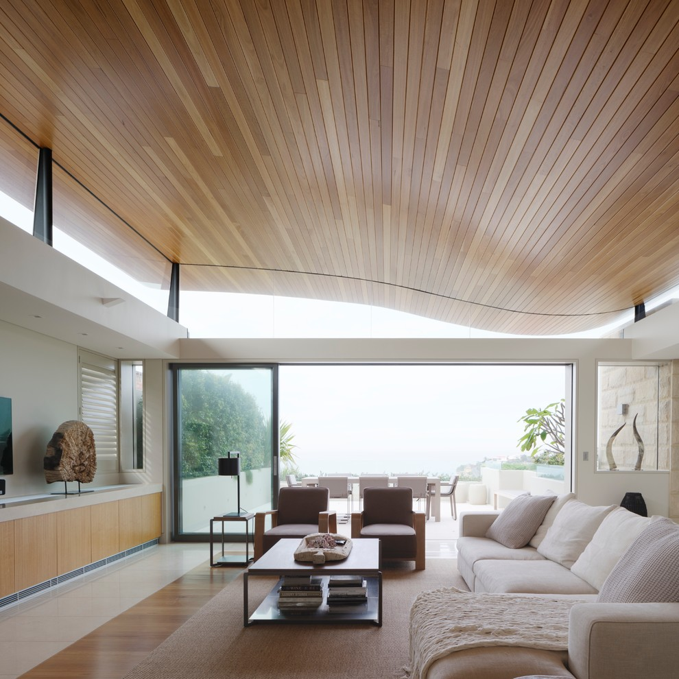 Living room - mid-sized contemporary open concept living room idea in Sydney