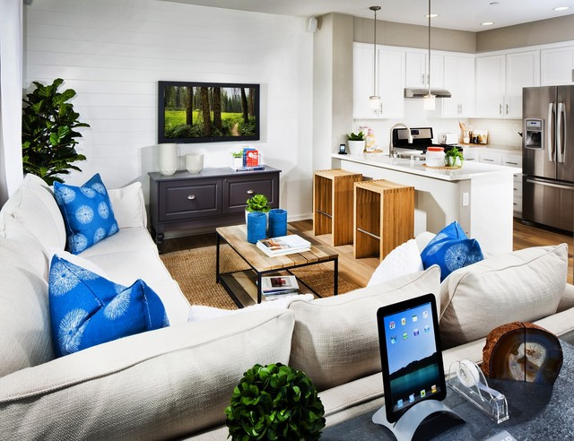 The Rows At Coyote Creek Contemporary Living Room
