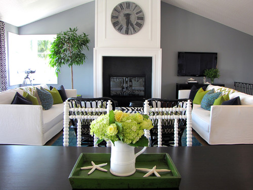 Beach Style Living Room by Portland Closet & Home Storage Designers Tara Bussema - Neat Organization and Design
