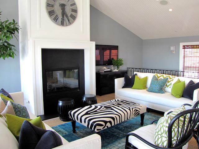 The Sandberg Home beach-style-living-room