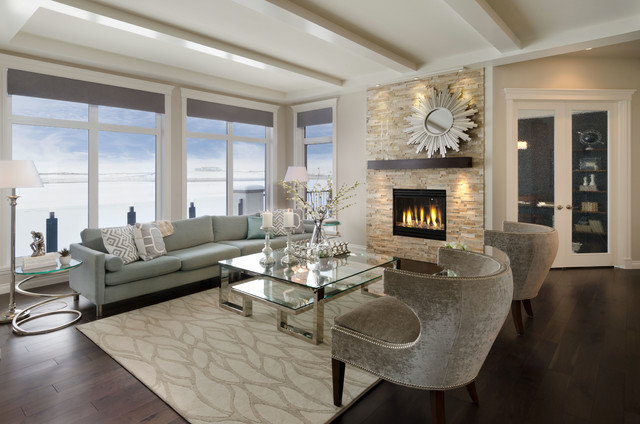 The savannah showhome calgary alberta for Show home living room designs
