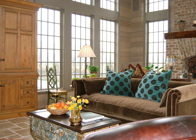 The Shenandoah Farmhouse Traditional Living Room Other Metro By David Anthony Chenault