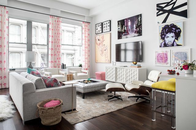 Beautiful  This Bright New York Living Room Is Designed to Entertain