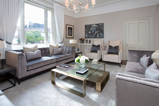 The St John S Wood Family Home Contemporary Living Room
