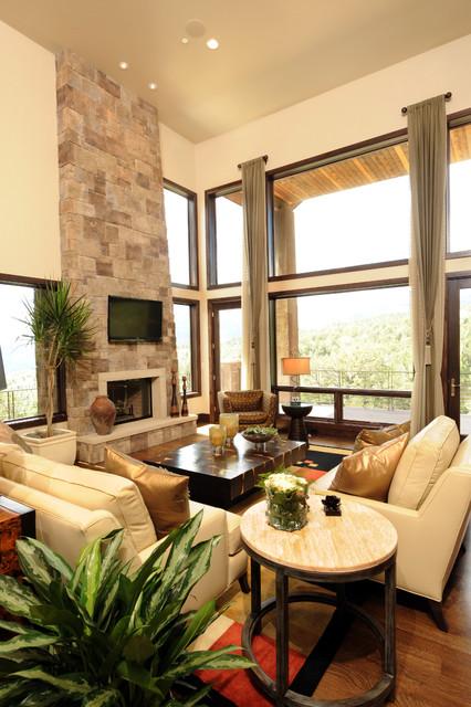 The Tamarack Great Room Contemporary Living Room Denver By Comito Building And Design Llc