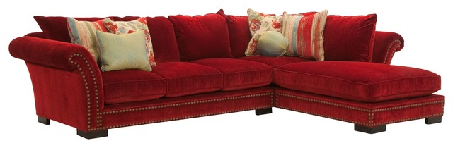 The Tara Sectional Transitional Living Room San