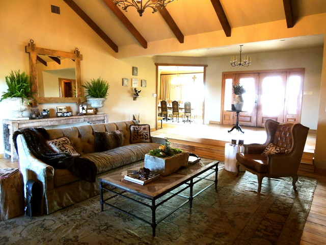 The Texas Oil Ranch Rustic Living Room Other Metro