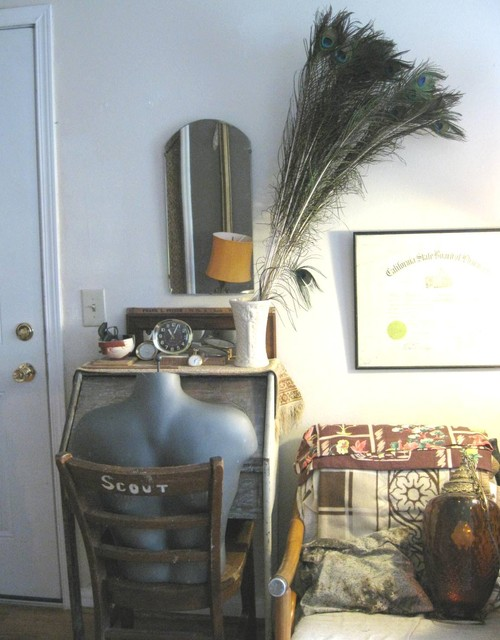 the tiny house eclectic-living-room