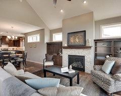The Trillium II transitional-living-room