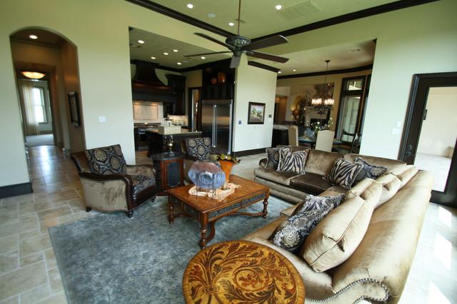 The Villa Lago mediterranean-living-room