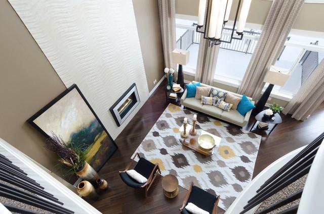 the vista showhome calgary alberta contemporary living room