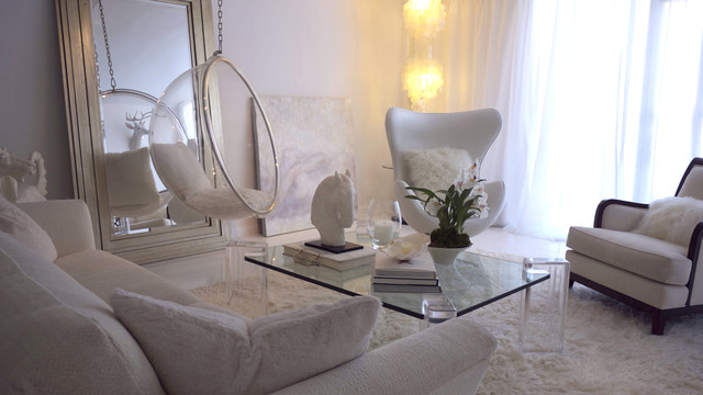 The White Room (with white curtains . . . ) - Eclectic - Living ...