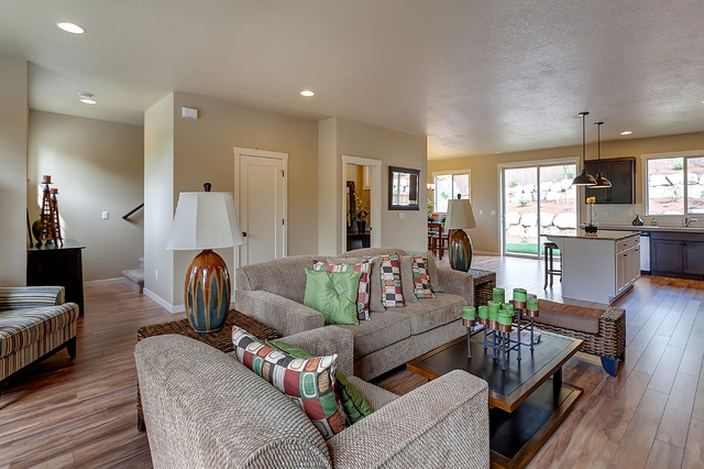 The Yakima At Hiddenbrook Transitional Living Room Portland By Marnella Homes