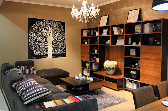 Theme Wall Tile Modern Living Room Other Metro By China Fitin Decoration