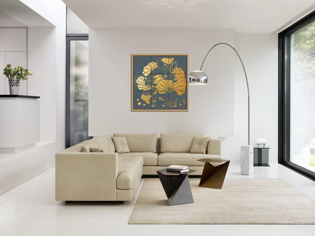 Theme Wall tile modern living room other metro