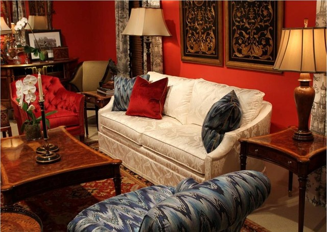Theodore Alexander Upholstery Bold Colors and Fabrics traditional-living-room