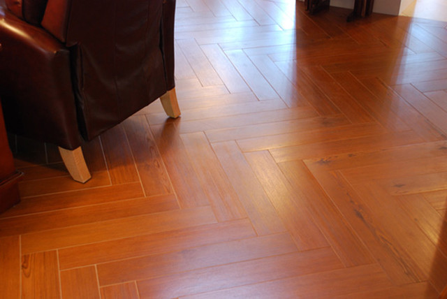 This Isn't Wood! It's Porcelain Tile. traditional-wall-and-floor-tile