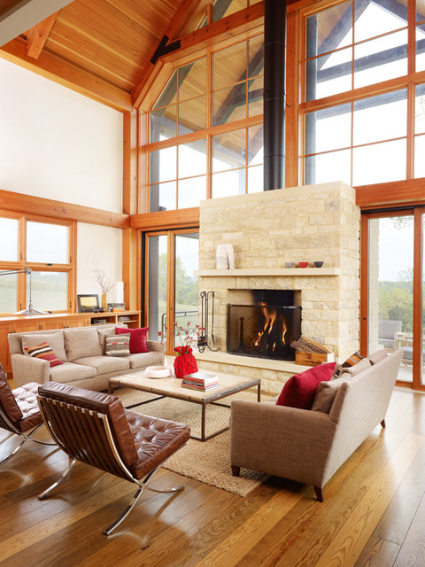 Thistle Hill Farm Farmhouse Living Room Milwaukee By Northworks Archi