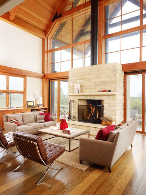 Thistle Hill Farm farmhouse-living-room