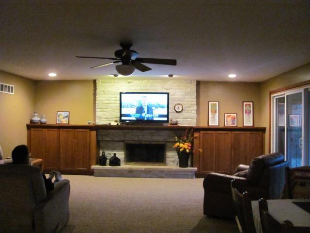 Thompson Mantel Area traditional-living-room