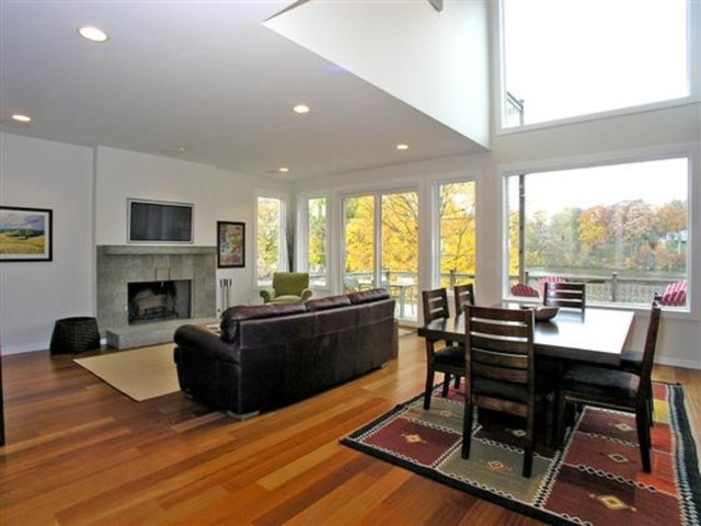 Thornapple river modern cottage contemporary living for Modern cottage living room ideas