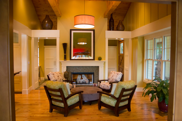 Thornapple River Retreat traditional-living-room