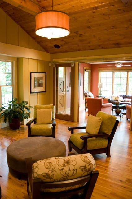Thornapple River Retreat traditional-living-room
