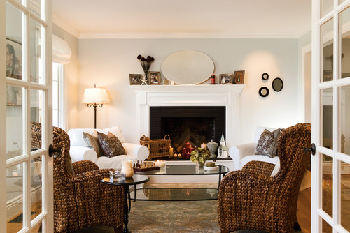 House in the Hamptons traditional living room