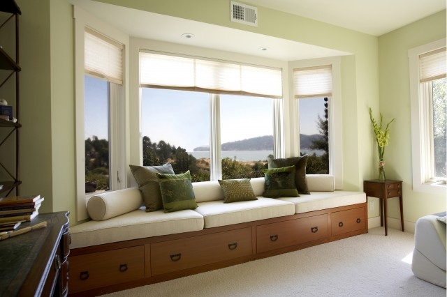 tiburon home with Asian influence contemporary-living-room