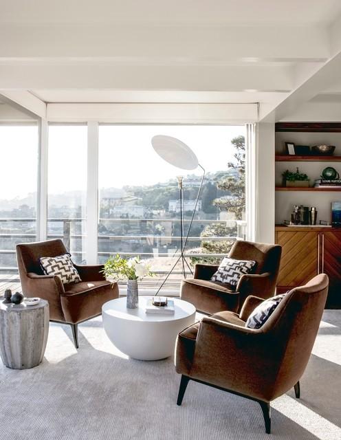 Tiburon Mid Century Redo Contemporary Living Room San Francisco By Ca